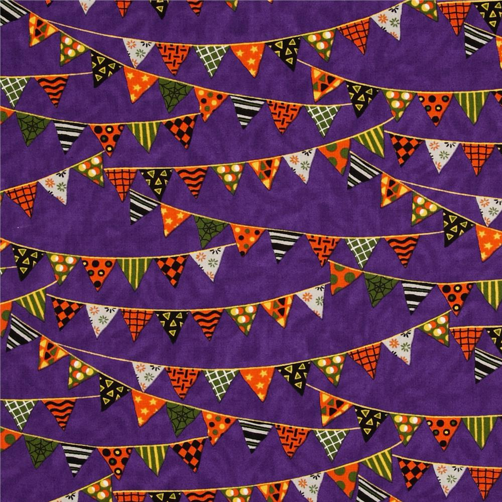 Moda Pumpkin Party Banners Potion Purple