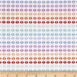 Hot House Flowers Diamond Grid Blue