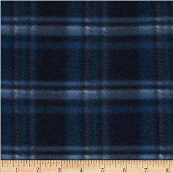 Printed Fleece Plaid Black/Blue