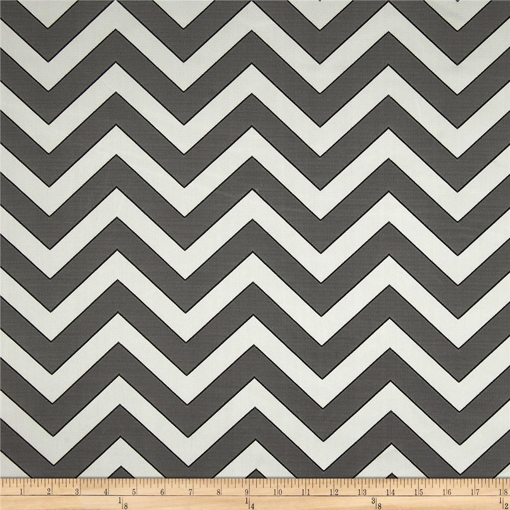 Rella Chevron Satin Jacquard Ebony Fabric By The Yard