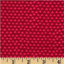 Soleil Tone on Tone Scallop Red