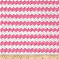 Stretch Jacquard Knit Stripe Pink/White