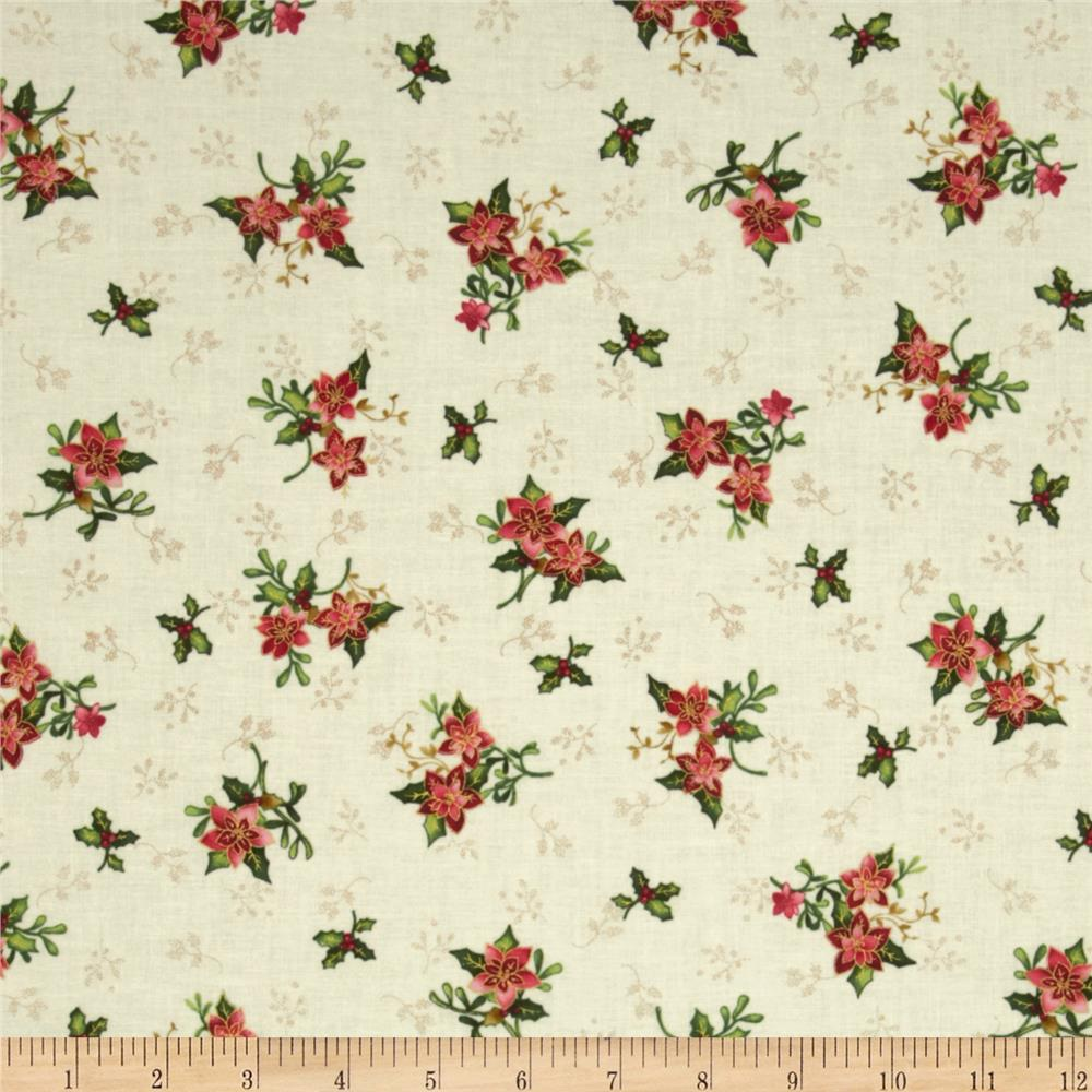 The Giving Quilt Small Holly Metallic Cream