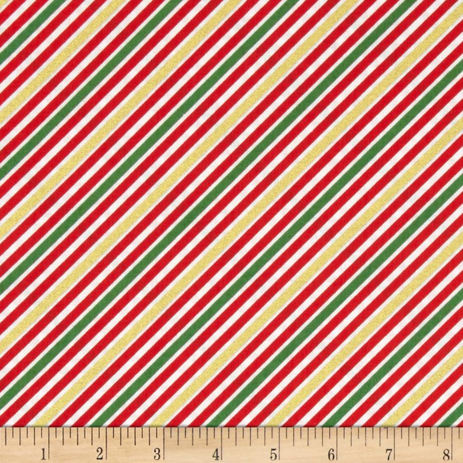 Kaufman Remix Metallic Diagonal Stripe Holiday