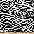 Michael Miller Zebra Stripe Black