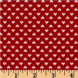 Kaufman Sevenberry Classiques Small Hearts Red