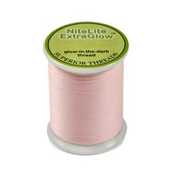 Superior NiteLite ExtraGlow Polyester Glow In The Dark Thread 40wt Pink 80yds