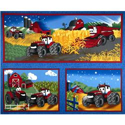 "Case IH Kid's Pillow 36"" Panel Blue"