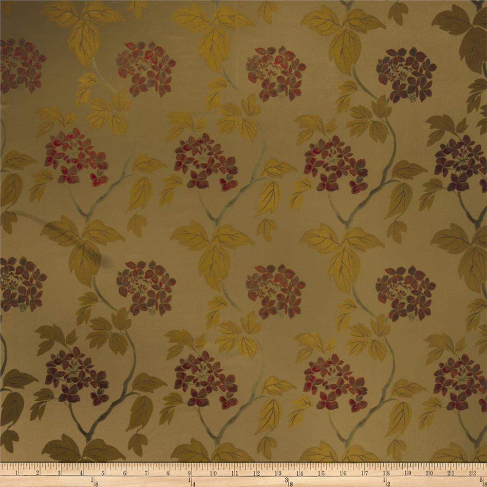 Fabricut Sangiovese Floral Faux Silk Document