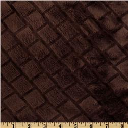Minky Diamond Cuddle Chocolate Fabric
