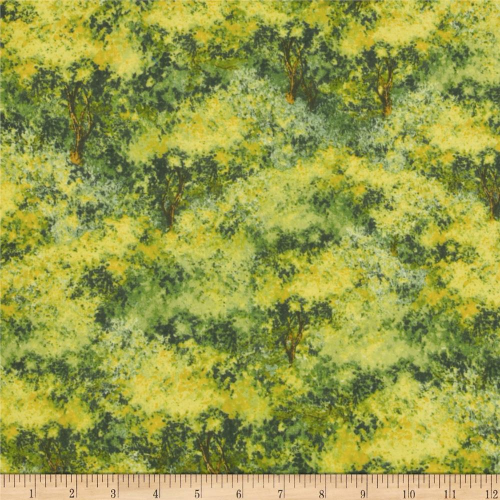 A Change of Scenery Flannel Scenic Green/Yellow