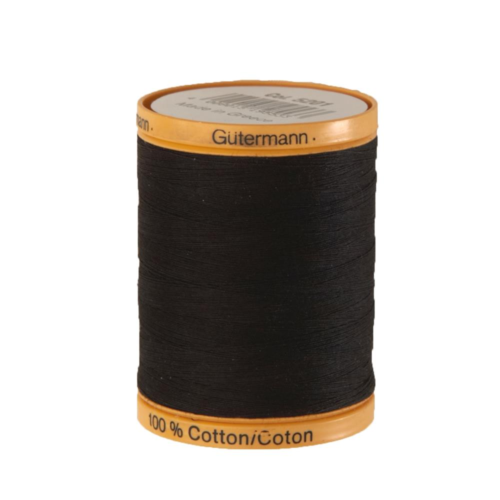 Gutermann Natural Cotton Thread 800m/875yds Black