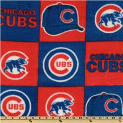 MLB Fleece Chicago Cubs Blocks Red/Royal Fabric