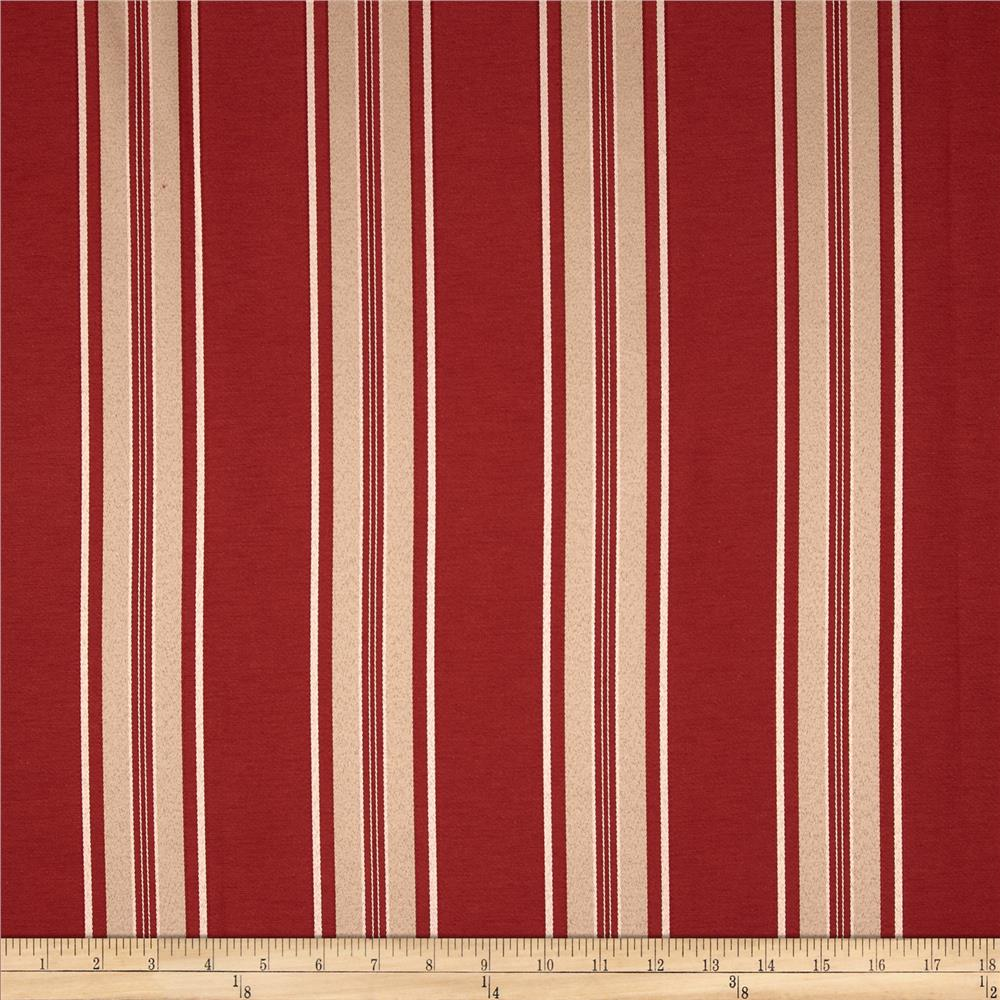 Richloom Gregory Stripe Jacquard Rouge