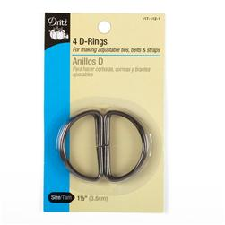 D-Rings Charcoal 1-1/2''
