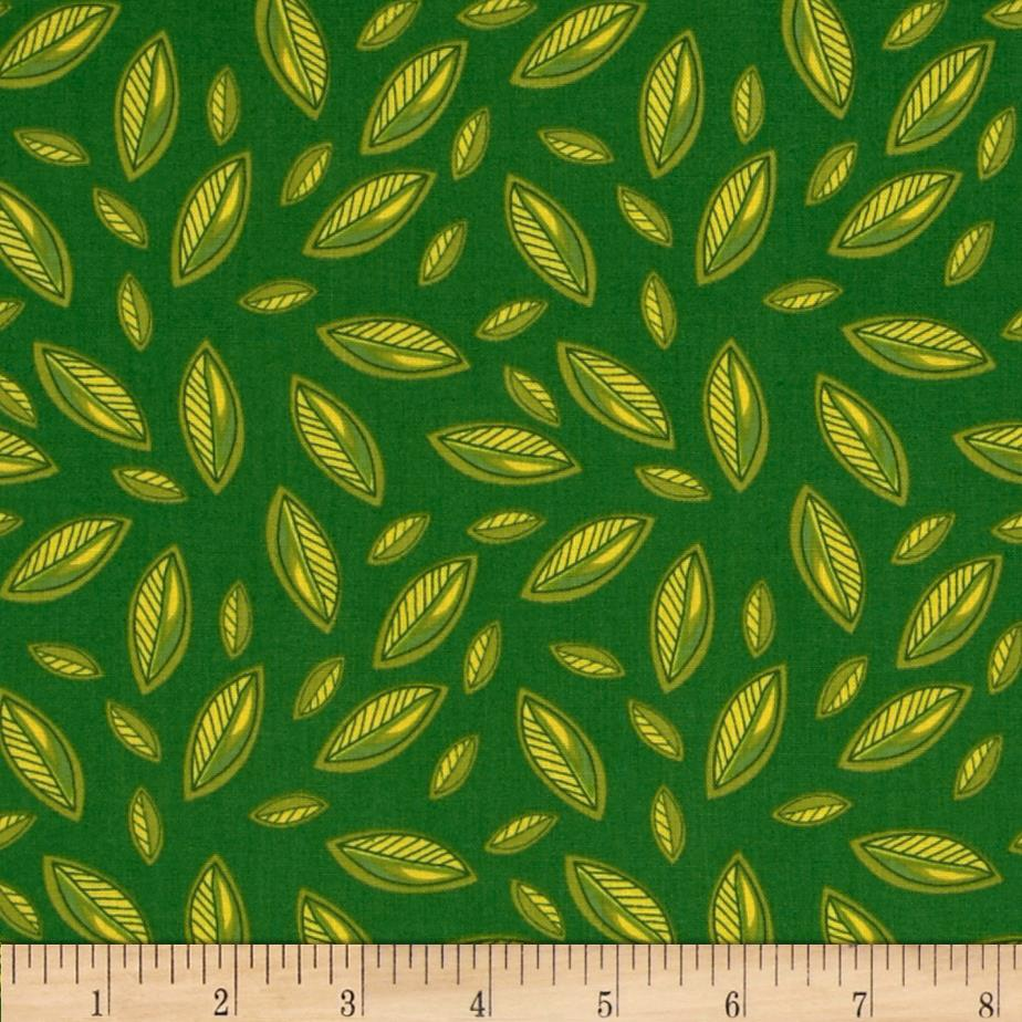 Meadow Melody Mini Leaf All Over Green