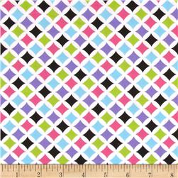 Geometric Coordinates Abstract Bright Multi Fabric