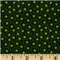 Small Floral Vines Black/Green