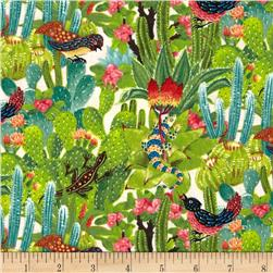 Los Cabos Allover Cactus Cream Fabric
