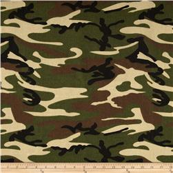 9 oz. Canvas Camouflage Woodland Green Fabric