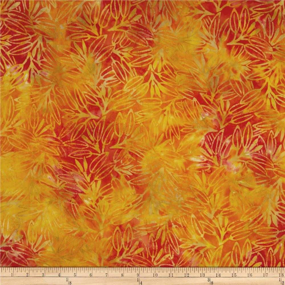 Moda Dreamcatcher Batik Abstract Leaves Sunset Orange