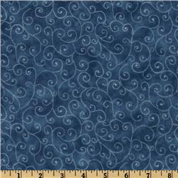 Moda Marble Swirls (9908-26) Dusty Blue Fabric