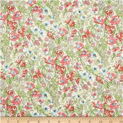 Cotton Lawn Garden Pink/Green