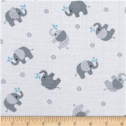 Baby Love Double Gauze Elephants Gray