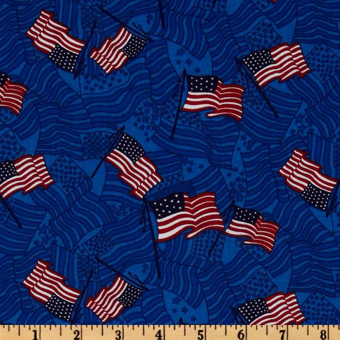 Patriotic Flags Royal Blue