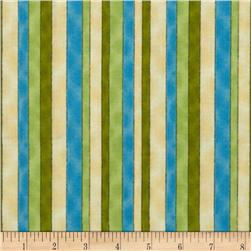 Fuzzy Duckling Stripe Blue/Green
