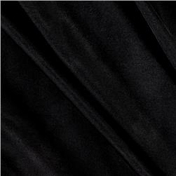 Poly Spandex Stretch ITY Knit Solid Black