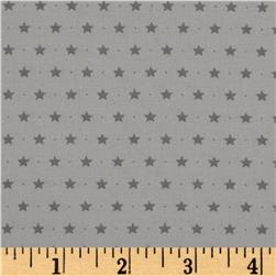 Moda Sugar Plum Christmas Twinkle Stars Mouse Grey