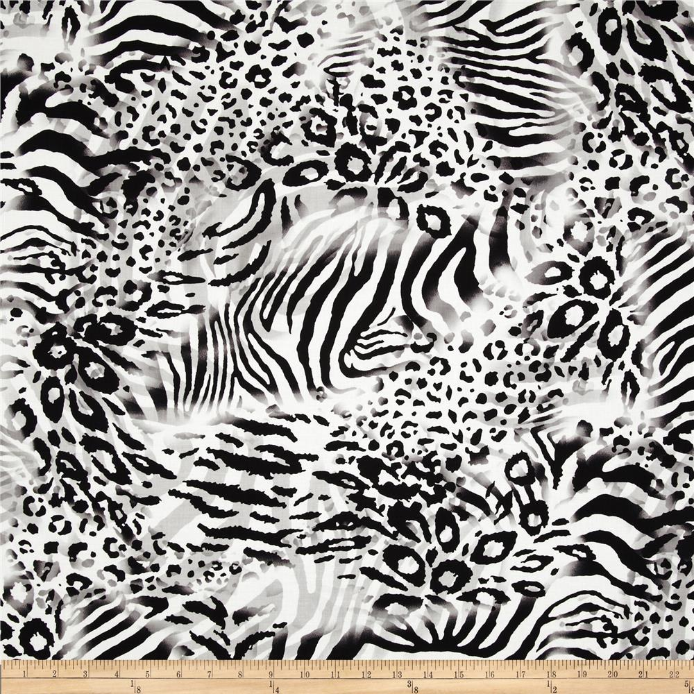 Wild Skins Animal Print White/Black