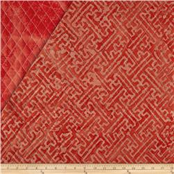 Indian Batik Double Sided Quilted Mesh Print Red