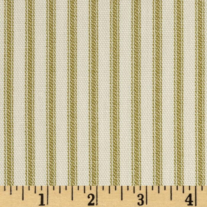 Vertical Ticking Stripe Ivory/Cream