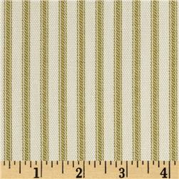 Vertical Ticking Stripe Ivory/Green