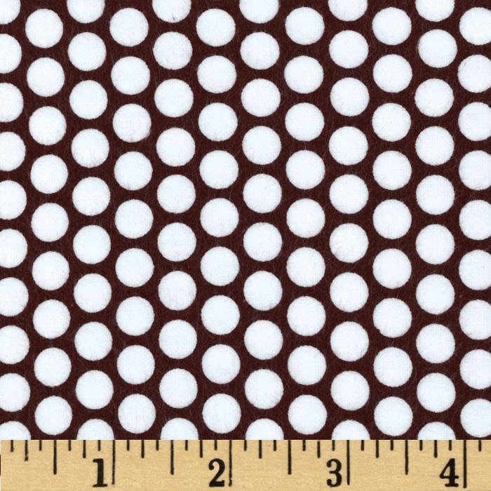 Riley Blake Flannel Honeycomb Dot Brown