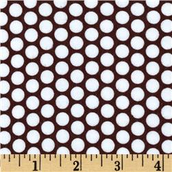 Riley Blake Flannel Honeycomb Dot Brown Fabric