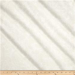 "Kaufman 108"" Wide Quilt Back Drawn Wide Petal Swirl White"