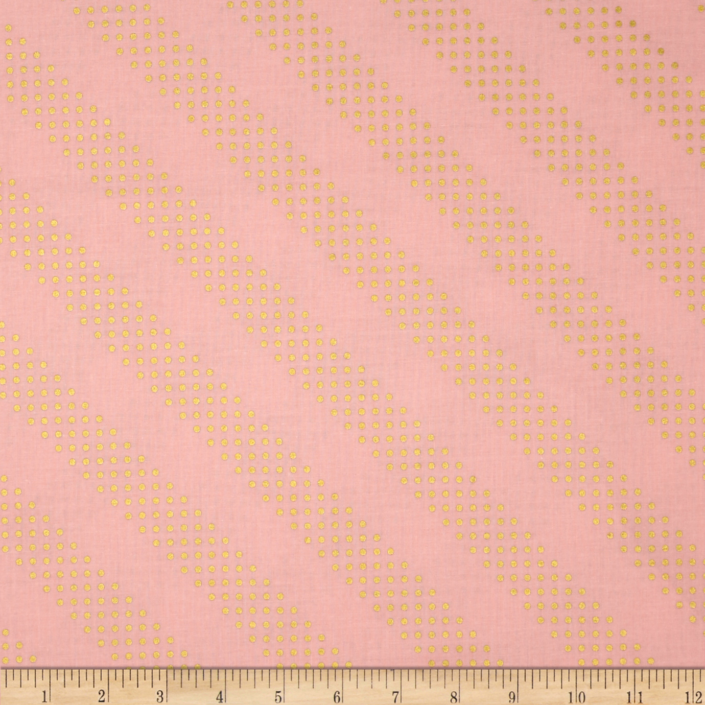 Image of Cotton + Steel Metallic Dottie Cotton Candy Fabric