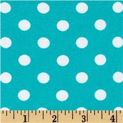 Rayon Challis Small Dots Mint White