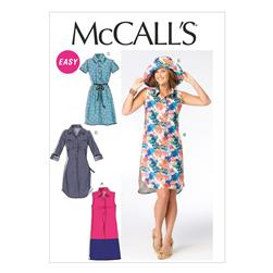 McCall's Misses' Dresses and Hat Pattern M6885 Size B50