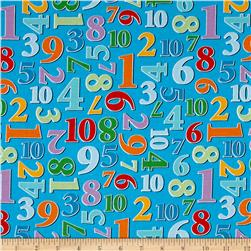 Count With Me Numbers Allover Blue