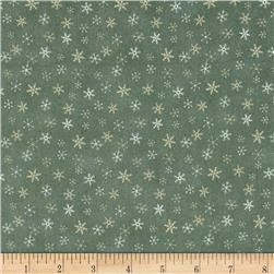 Lecien Merry Taupe Snowflakes Green