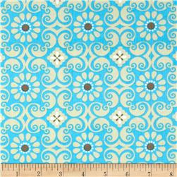 Bright Now Flower Patch Aqua