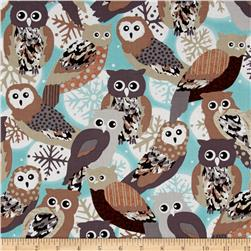 Kanvas Shades of Winter Winter Owls Aqua