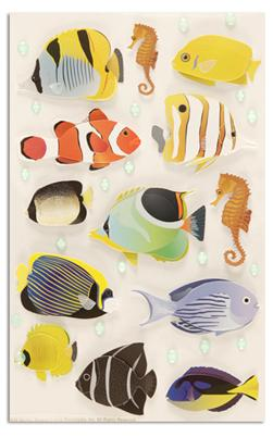 Martha Stewart Crafts Tropical Fish Stickers