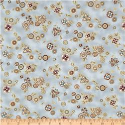 Esmeralda Small Floral Metallic Dawn Beige