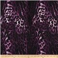Stretch ITY Jersey Knit Shimmer Animal Purple/Black