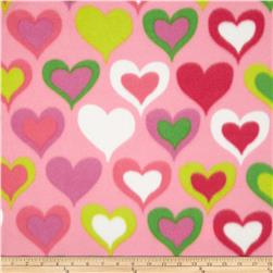 Fleece Hearts Pink